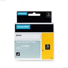 PRINTLINE kompatibilní páska s DYMO 1805444, 24mm x 1,5m, černý tisk / žlutý podklad, RHINO, bužírka