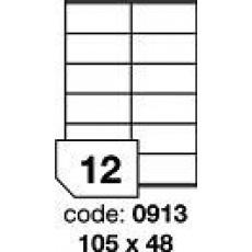 RAYFILM Štítky 105x48 univerzálne biele *R01000913A, 100 listů