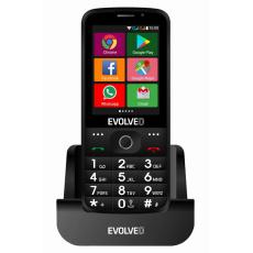 Bazar - EVOLVEO EasyPhone AD, chytrý mobilní telefon pro seniory s nabíjecím stojánkem (černá barva), z opravy