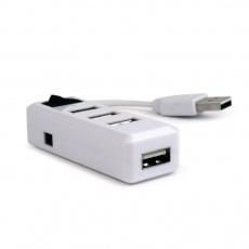 GEMBIRD USB hub, 2.0, 4 port, vypínač, bílá