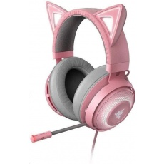 RAZER sluchátka Kraken Kitty, USB Headset, Chroma, Quartz / růžová