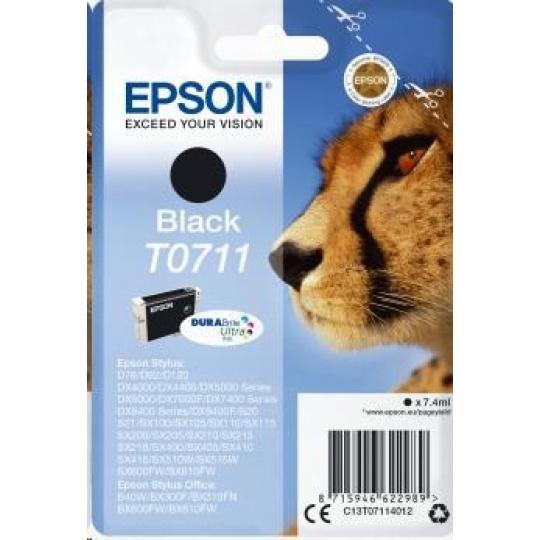 EPSON ink čer Singlepack Black T0711 DURABrite Ultra Ink (7,4 ml)