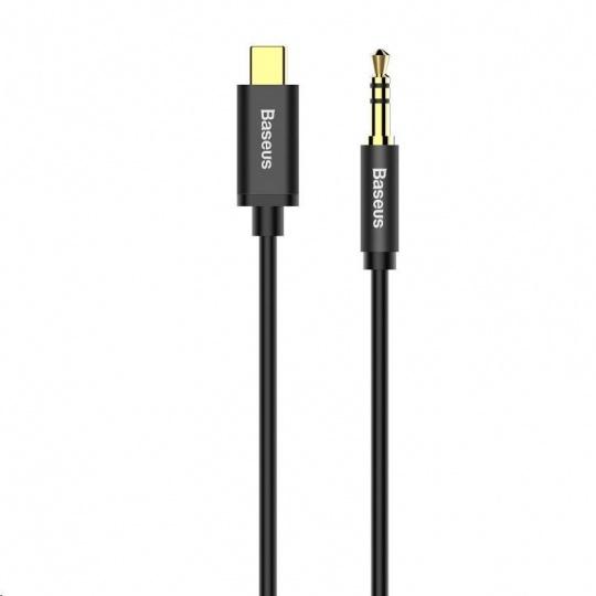Baseus Yiven Series audio kabel USB-C / 3,5mm Jack 1,2m, černá