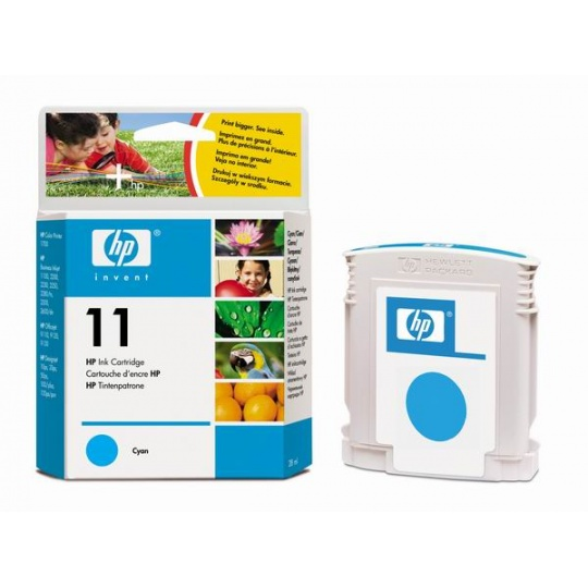 HP 11 Cyan Ink Cart, 28 ml, C4836A