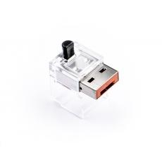 SMARTKEEPER Basic LAN Cable Lock 5 - 1x klíč + 5x záslepka, oranžová