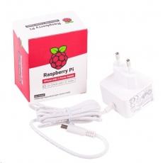 Raspberry Pi napájecí zdroj USB-C 5,1V 3A pro Raspberry Pi 4B, EU, bílý