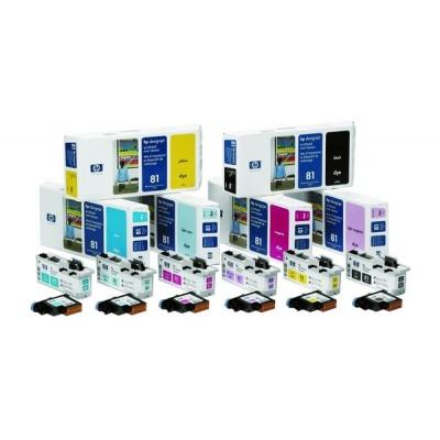 HP 81 Light Cyan Printhead + Printhead Cleaner, C4954A