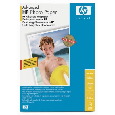 HP Advanced Glossy Photo Paper-20 sht/A3/297 x 420 mm,  10.5 mil,  250 g/m2, Q8697A