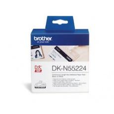 BROTHER DK-N55224 bílá papírová role nelepící s vyšší gramáží (54mm)