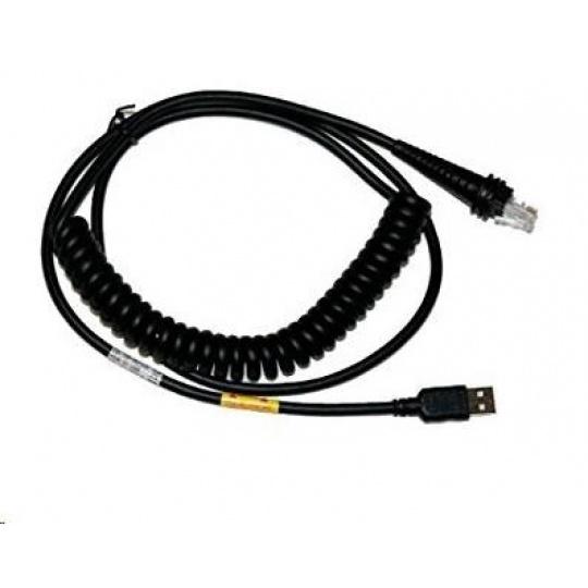 Honeywell USB kabel typ A, 5m, 5V host, kroucený
