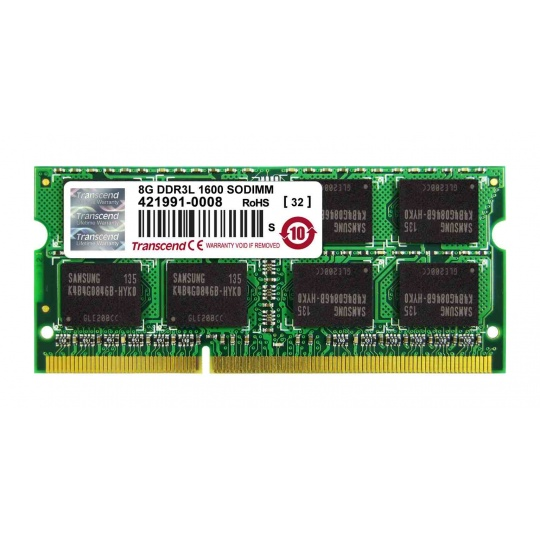 SODIMM DDR3L 8GB 1600MHz TRANSCEND 2Rx8 CL11