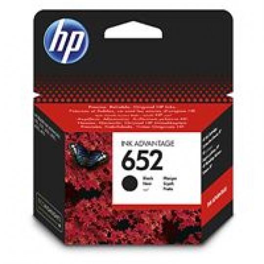 HP 652 Black Original Ink Advantage Cartridge, , F6V25AE