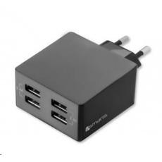 4smarts nabíječka do sítě, 4x USB, 2,4 A, černá