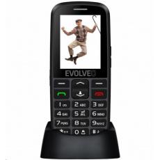 EVOLVEO EasyPhone EG, mobilní telefon pro seniory s nabíjecím stojánkem, černá