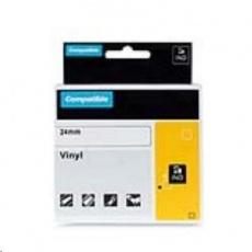 PRINTLINE kompatibilní páska s DYMO 1805423, 24mm x 5,5m, bílý tisk / modrý podklad, RHINO, vinylová