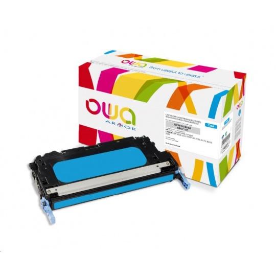 OWA Armor toner pro HP Color Laserjet 3800, CP3505, 6000 Stran, Q7581A, modrá/cyan