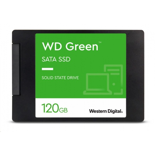 "WD GREEN SSD 3D NAND WDS120G2G0A 120GB SATA/600, (R:500, W:400MB/s), 2.5"""