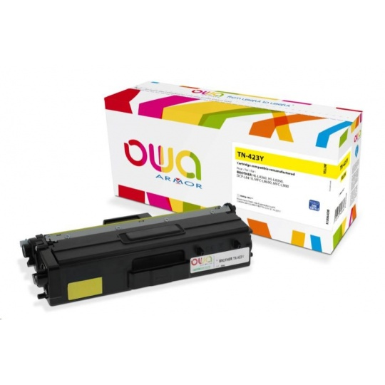 OWA Armor toner pro BROTHER HL-L 8260, 4.000 str., kom. s TN423Y žlutá/yellow